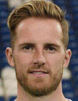 Picture of the 1.96m (6 ft 5 in) tall German goalkeeper of Norwich City