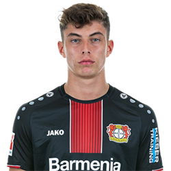 Picture of the 1.88 m (6 ft 2 in) tall German attacking midfielder of Bayer 04 Leverkusen