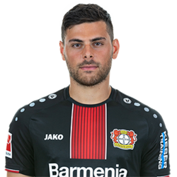 Picture of the 1.79 m (5 ft 11 in) tall German Striker of Bayer Leverkusen