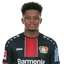 Picture of the 1.78 m (5 ft 10 in) tall Jamaican left winger of Bayer Leverkusen