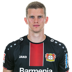 Picture of the 1.86 m (6 ft 1 in) tall German central defender of Bayer Leverkusen