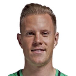 Picture of the 1.87 m (6 ft 2 in) tall German goalkeeper of Barcelona