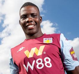 Picture of the 1.78 m (5 ft 10 in) tall Zimbabwean defensive midfielder of Aston Villa