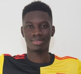 Picture of the 1.85 m (6 ft 1 in) tall Senegalese right winger of Watford