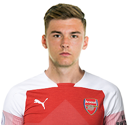 Picture of the 1.78 m (5 ft 10 in) tall Manx/Scottish left back of Arsenal