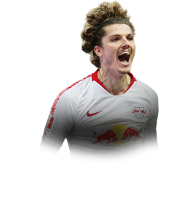 Picture of the 1.77 m (5 ft 10 in) tall Austrian  Attacking Midfielder of Red Bull Leipzig