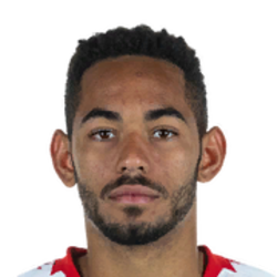 Picture of the 1.84 m (6 ft 0 in) tall Brazilian centre forward of RB Leipzig