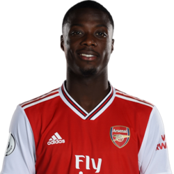 Picture of the 1.83 m (6 ft 0 in) tall French/Ivorian right winger of Arsenal