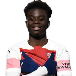 Picture of the 1.78 m (5 ft 10 in) tall English/Ghanaian left winger of Arsenal