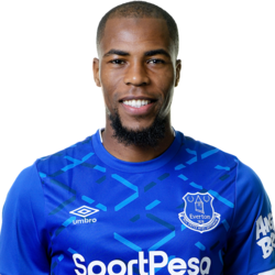 Picture of the 1.82 m (6 ft 0 in) tall French right back of Everton