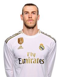 Picture of the 1.85 m (6 ft 1 in) tall Welsh right winger of Real Madrid