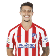 Picture of the 1.84 m (6 ft 0 in) tall Spanish centre back of Atlético Madrid