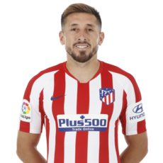 Picture of the 1.85 m (6 ft 1 in) tall Mexican central midfielder of Atlético Madrid