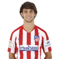 Picture of the 1.81 m (5 ft 11 in) tall Portugese second striker of Atlético Madrid