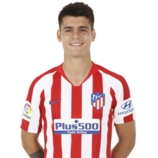 Picture of the 1.89 m (6 ft 2 in) tall Spanish striker of Atlético Madrid