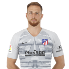 Picture of the 1.88 m (6 ft 2 in) tall Slovenian goalkeeper of Atlético Madrid