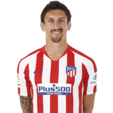 Picture of the 1.87 m (6 ft 2 in) tall Montenegrin centre back of Atlético Madrid