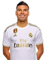 Picture of the 1.85 m (6 ft 1 in) tall Brazilian defensive midfieder of Real Madrid