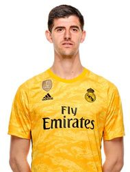 Picture of the 1.99 m (6 ft 6 in) tall Belgian goalkeeper of Real Madrid