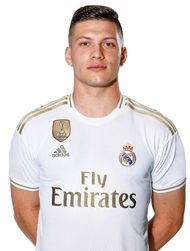 Picture of the 1.82 m (6 ft 0 in) tall Serbian striker of Real Madrid