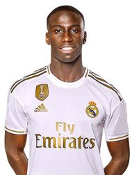 Picture of the 1.80 m (5 ft 11 in) tall French/Senegalese left back of Real Madrid