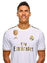 Picture of the 1.91 m (6 ft 3 in) tall French centre back of Real Madrid