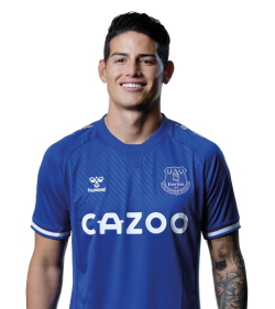 Picture of the 1.80 m (5 ft 11 in) tall Colombian attacking midfielder of Everton