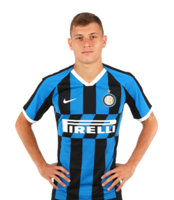 Picture of the 1.72 m (5 ft 8 in) tall Italian midfielder of Inter Milan