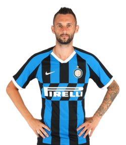 Picture of the 1.81 m (5 ft 11 in) tall Croatian midfielder of Inter Milan