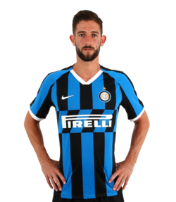 Picture of the 1.90 m (6 ft 3 in) tall Italian midfielder of Inter Milan