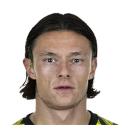 Picture of the 1.80 m (5 ft 11 in) tall German left back of Borussia Dortmund