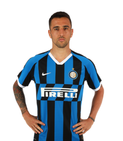 Picture of the 1.89 m (6 ft 2 in) tall Uruguayan  midfielder of Inter Milan