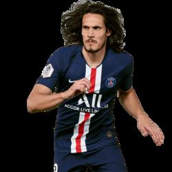 Picture of the 1.84 m (6 ft 0 in) tall Uruguayan striker of Paris Saint-Germain