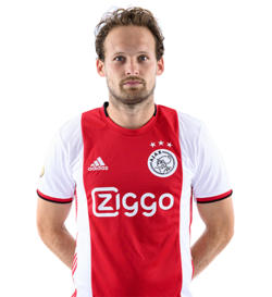 Picture of the 1.80 m (5 ft 11 in) tall Dutch centre back of Ajax Amsterdam