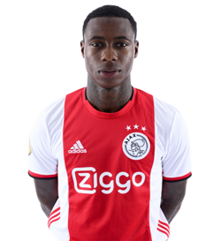 Picture of the 1.74 m (5 ft 8 in) tall Dutch forward of Ajax Amsterdam