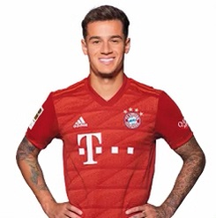 Picture of the 1.72 m (5 ft 8 in) tall Brazilian attacking midfielder of Bayern Munich