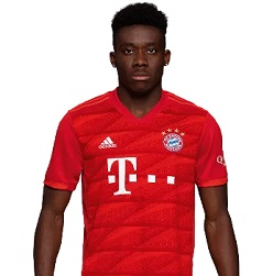 Picture of the 1.81 m (5 ft 11 in) tall Canadian-Liberian left winger of Bayern Munich