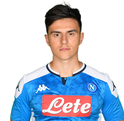 Picture of the 1.82 m (5 ft 11 in) tall Macedonian midfielder of S.S.C. Napoli