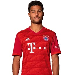 Picture of the 1.75 m (5 ft 9 in) tall German/Ivorian right winger of Bayern Munich