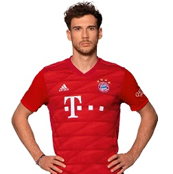 Picture of the 1.89 m (6 ft 2 in) tall German central midfielder of Bayern Munich
