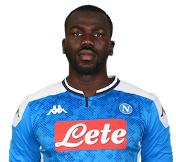 Picture of the 1.86 m (6 ft 1 in) tall Senegalese  centre back of S.S.C. Napoli