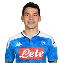 Picture of the 1.76 m (5 ft 9 in) tall Mexican winger of S.S.C. Napoli