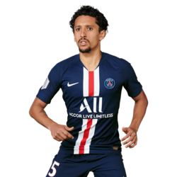 Picture of the 1.83 m (6 ft 0 in) tall Brazilian centre back of Paris Saint-Germain