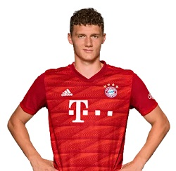 Picture of the 1.86 m (6 ft 1 in) tall French centre back of Bayern Munich