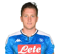 Picture of the 1.80 m (5 ft 11 in) tall Polish midfielder of S.S.C. Napoli