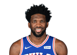 Picture of the 7 ft 0 in (2.13 m) tall Cameroonian center of Philadelphia 76ers