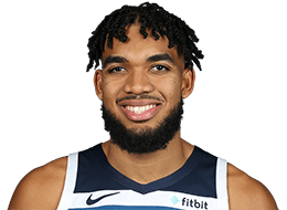Picture of the 6 ft 11 in (2.11 m) tall American / Dominican center of Minnesota Timberwolves