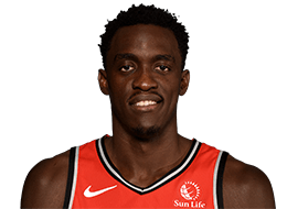 Picture of the 6 ft 9 in (2.06 m) tall Cameroonian Power Forward of Toronto Raptors
