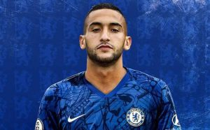 Picture of the 1.81 m (5 ft 11 in) tall Moroccan forward of Chelsea