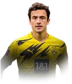 Picture of the 1.82 m (5 ft 11.5 in) tall Danish midfielder of Borussia Dortmund